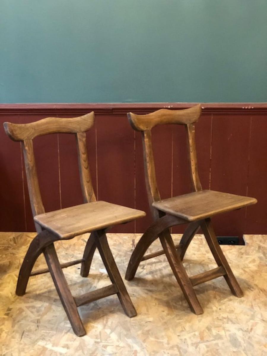 Style De Chaises Anciennes 2 chaises anciennes en chêne massif