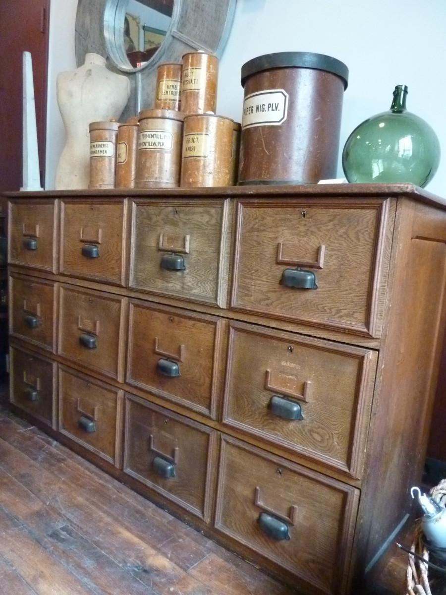 meuble de m tier 12 tiroirs archives boutique broc martel. Black Bedroom Furniture Sets. Home Design Ideas