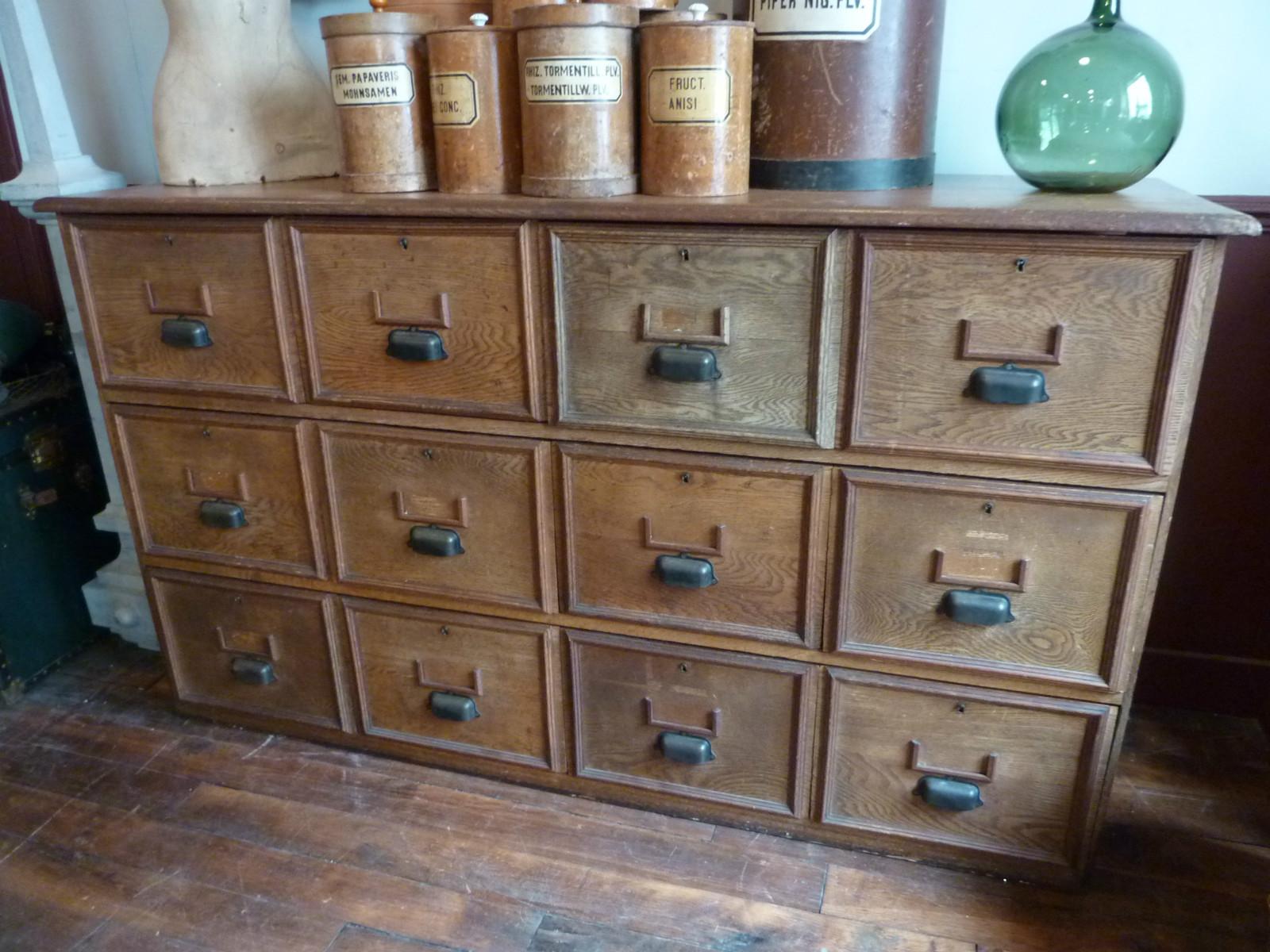 meuble de m tier 12 tiroirs archives boutique broc martel