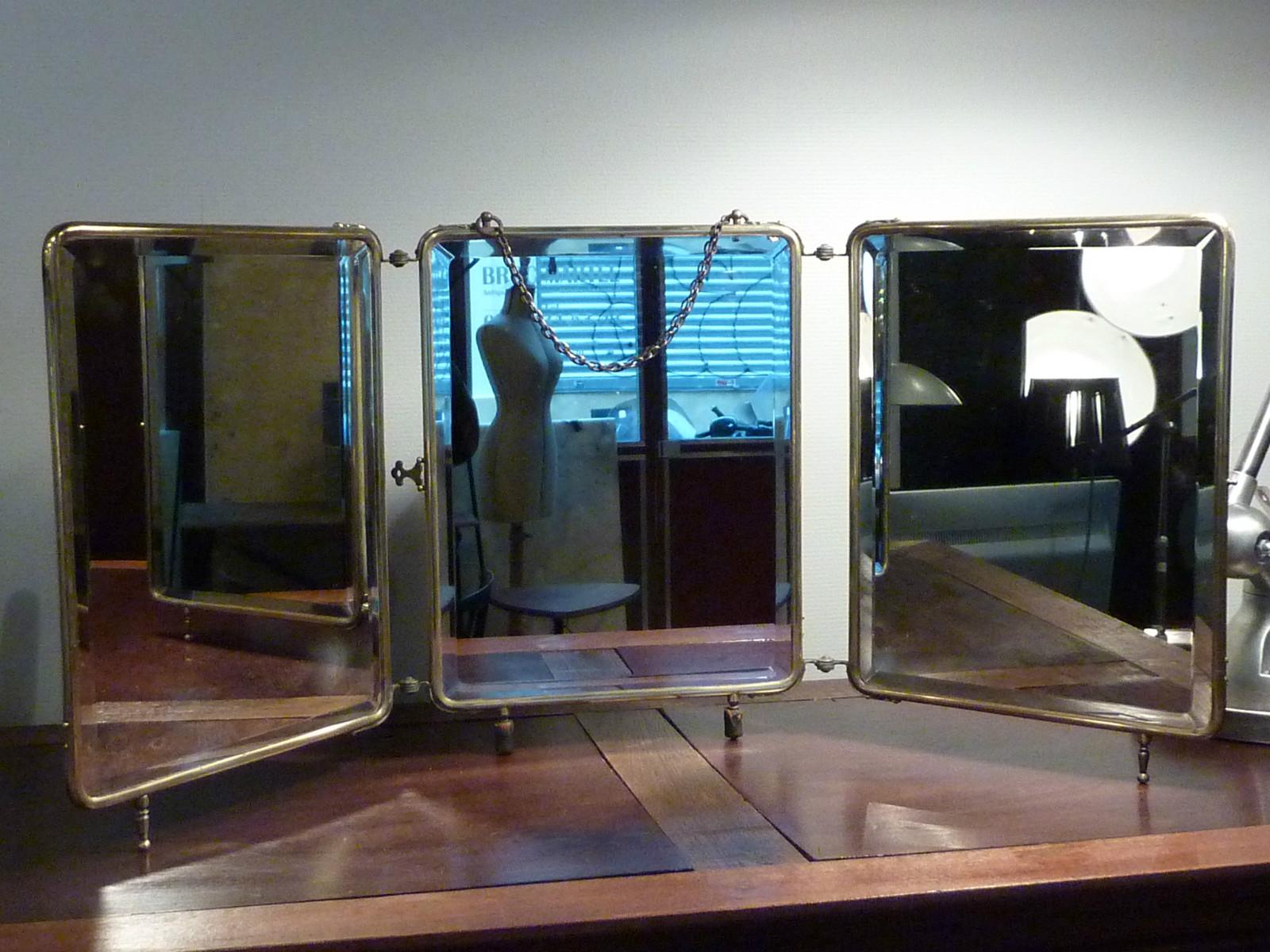 grand miroir de barbier triptyque archives boutique broc martel. Black Bedroom Furniture Sets. Home Design Ideas