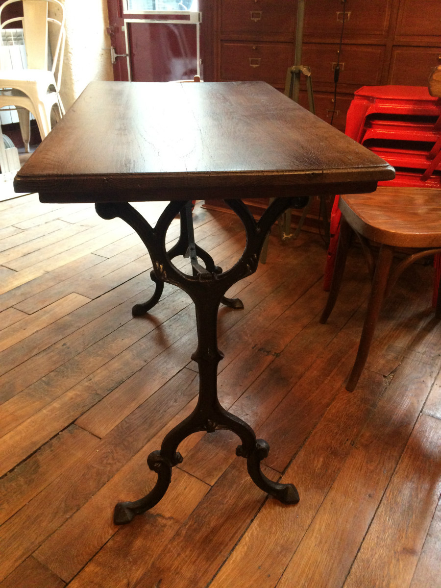 Table De Bistrot Pied Fonte 4 Couverts Boutique Broc Martel