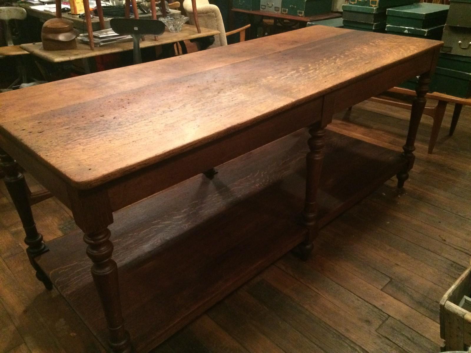 Table de drapier pieds en bois tourn boutique broc martel - Pieds de table bois tourne ...