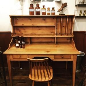 Bureau En Pin Style Anglais Ancien Mobilier Boutique Broc Martel