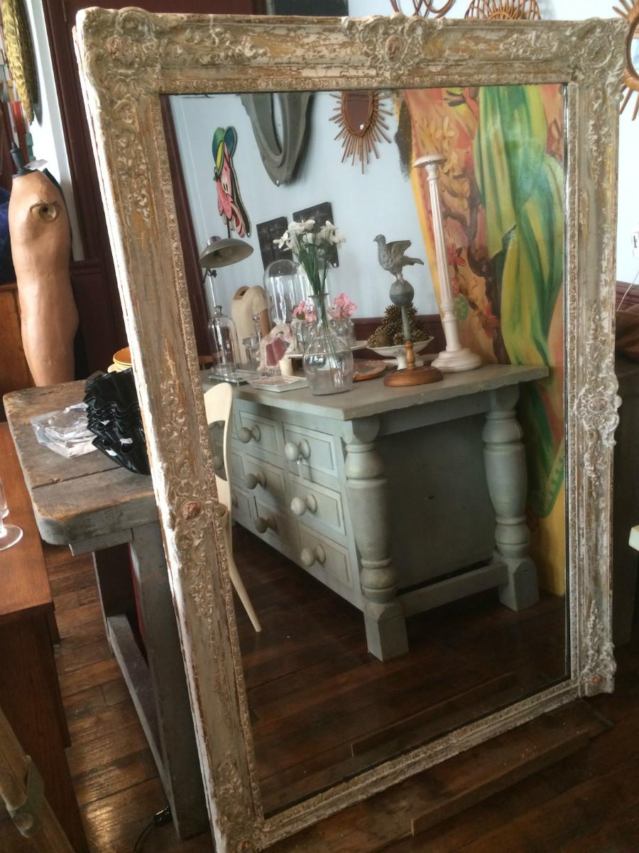 Grand Miroir De Cheminee En Bois Dore Ancien Archives Boutique Broc Martel