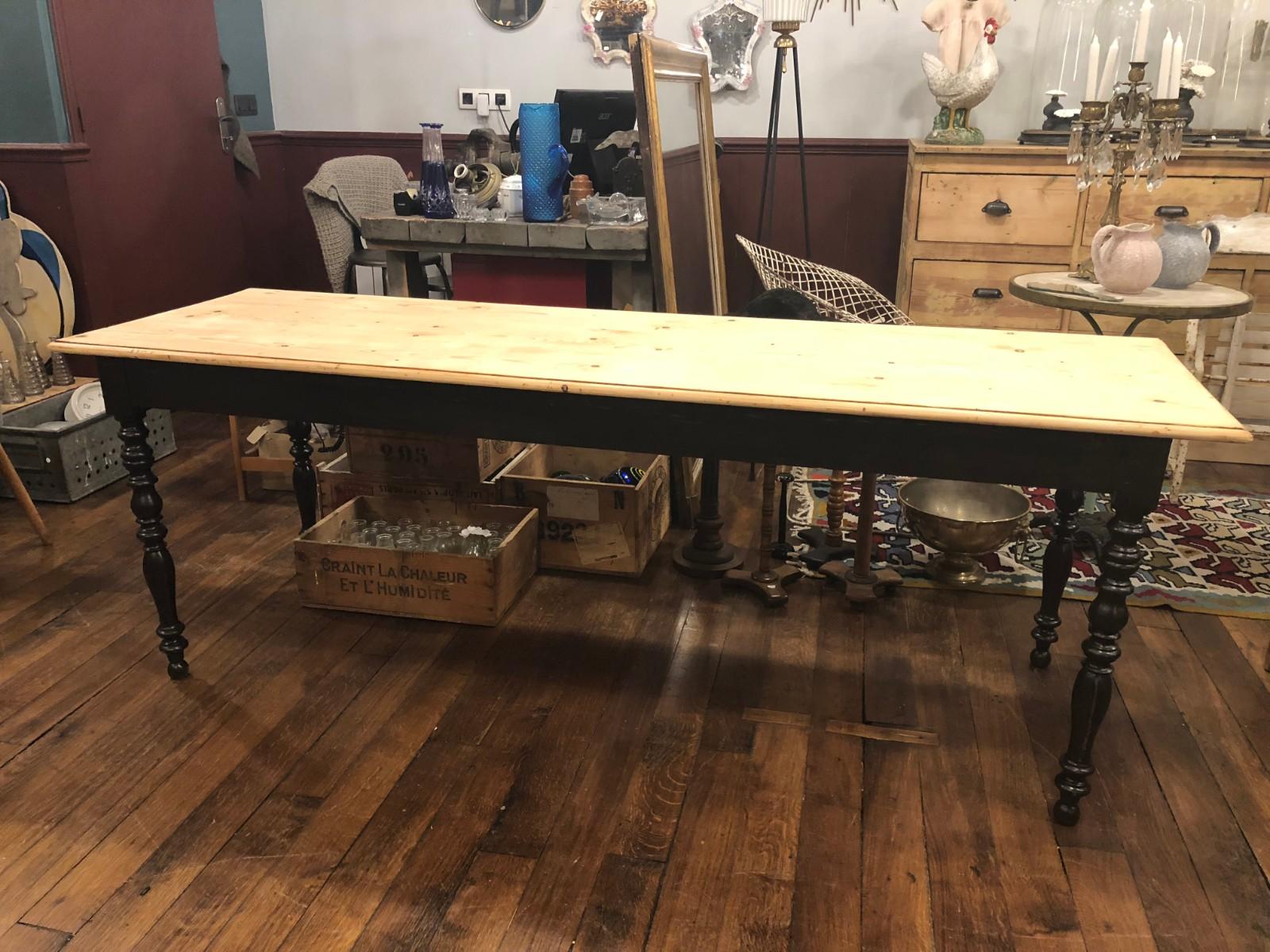 Grande table de ferme à pied tournés   Archives   Boutique   Broc ...