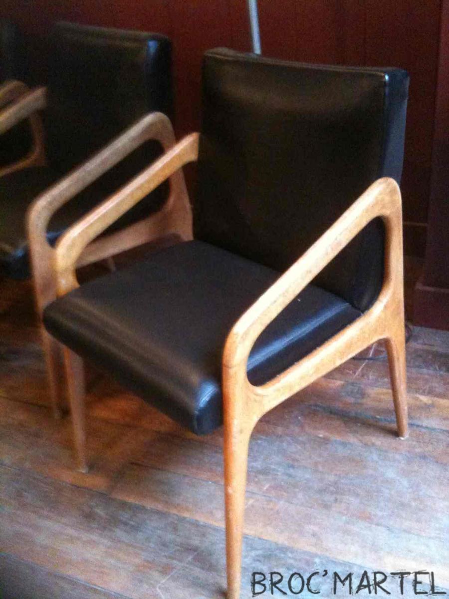 6 fauteuils vintage ann es 50 60 boutique broc martel. Black Bedroom Furniture Sets. Home Design Ideas