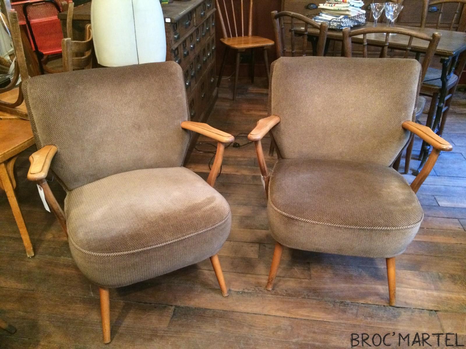 paire de fauteuils cocktail tissus avec accoudoirs archives boutique broc martel. Black Bedroom Furniture Sets. Home Design Ideas