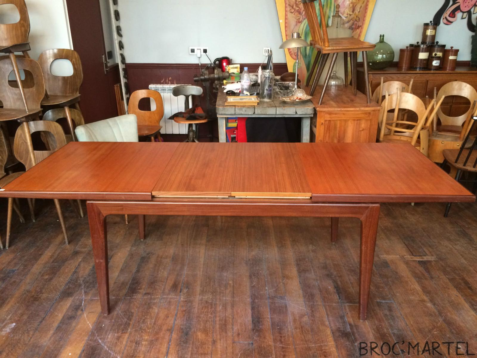 Table de salle manger scandinave en teck boutique for Table scandinave en teck