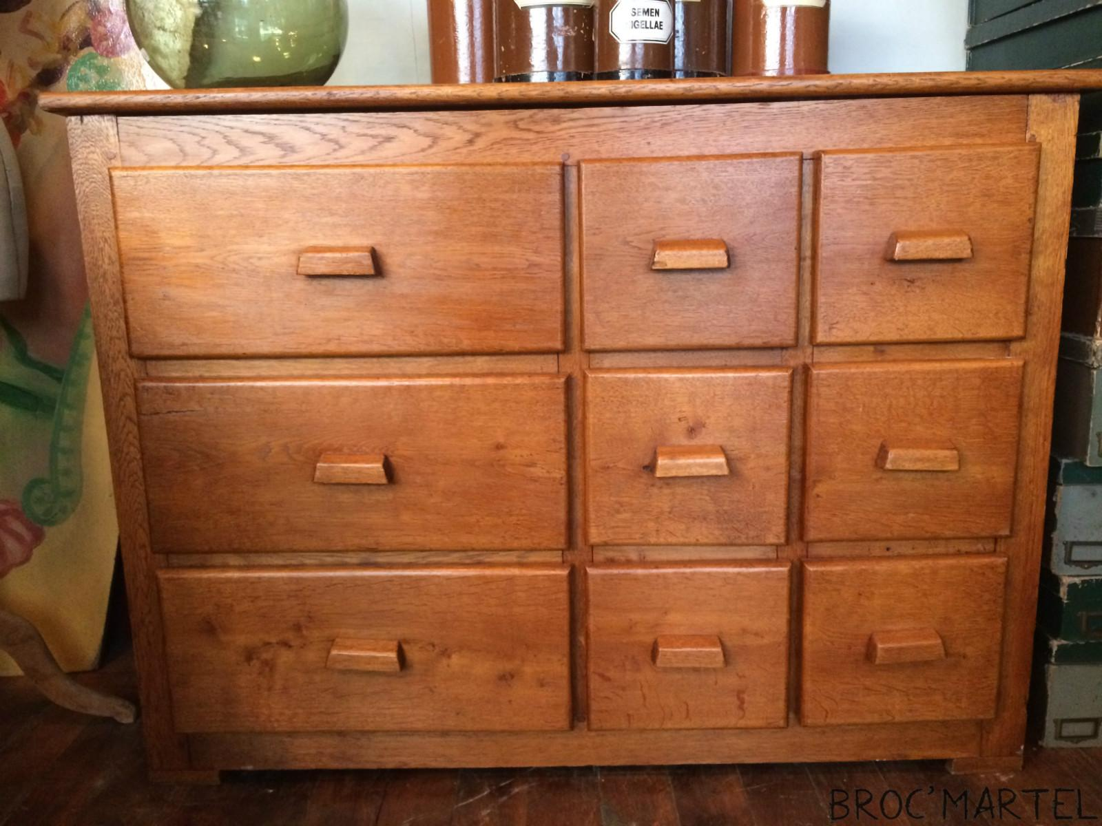 Meuble de magasin 9 tiroirs boutique broc martel - Boutique de meuble ...