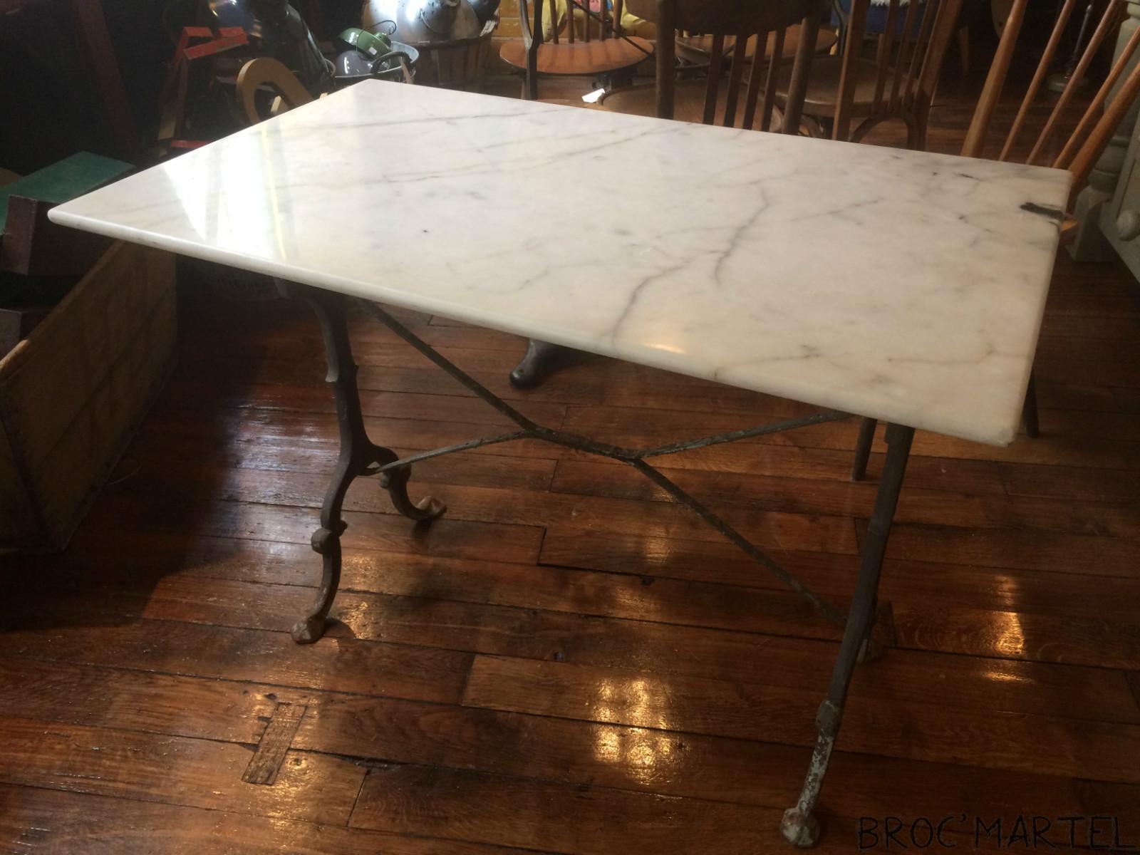 Table de bistrot plateau marbre archives boutique - Table marbre bistrot ...